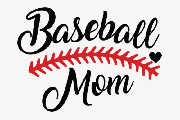 Print on Demand: Baseball Mom Design Graphic Crafts By roxysvg26