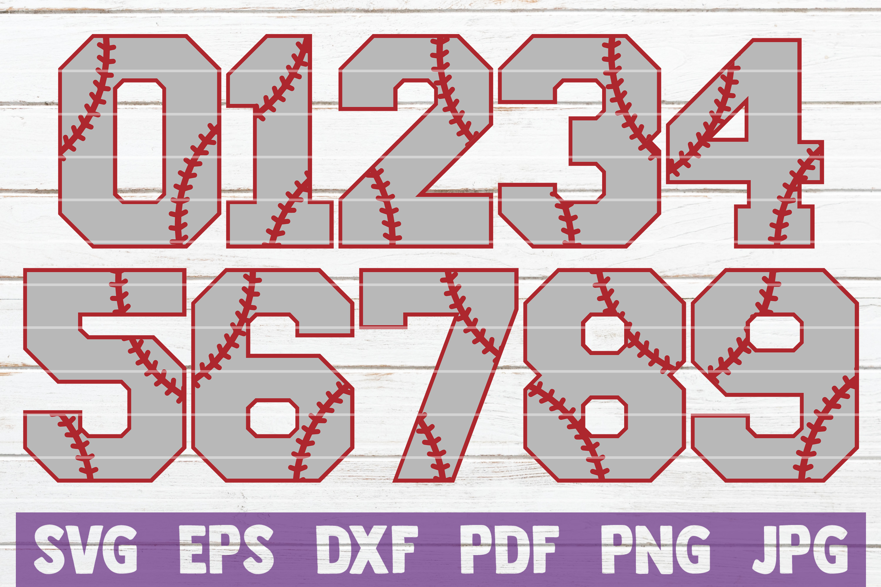 Download Free Baseball Numbers Cut Files Graphic By Mintymarshmallows for Cricut Explore, Silhouette and other cutting machines.