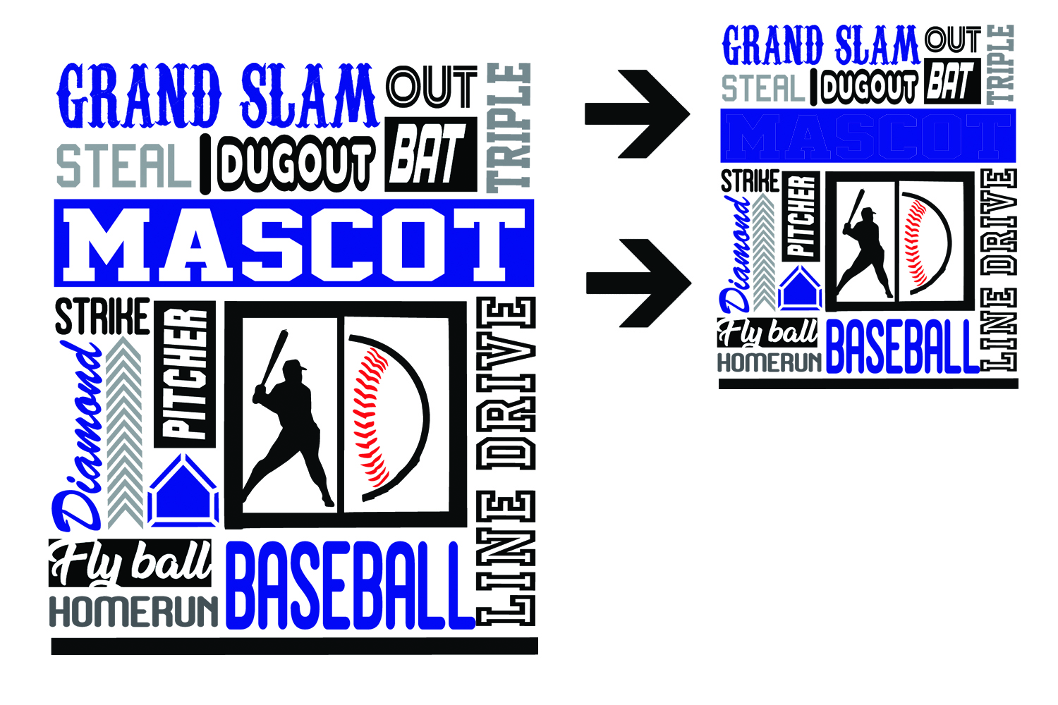 Download Free Baseball Subway Art Graphic By Johanruartist Creative Fabrica for Cricut Explore, Silhouette and other cutting machines.