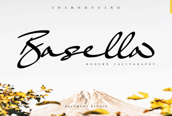 Print on Demand: Basella Script & Handwritten Font By Halymunt Studio