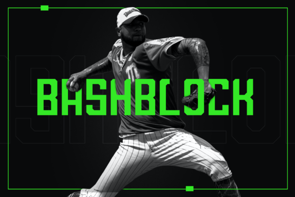 Print on Demand: BashBlock Display Font By ovoz.graphics
