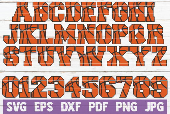 Download Free Basketball Alphabet And Numbers Svg Graphic By Mintymarshmallows for Cricut Explore, Silhouette and other cutting machines.
