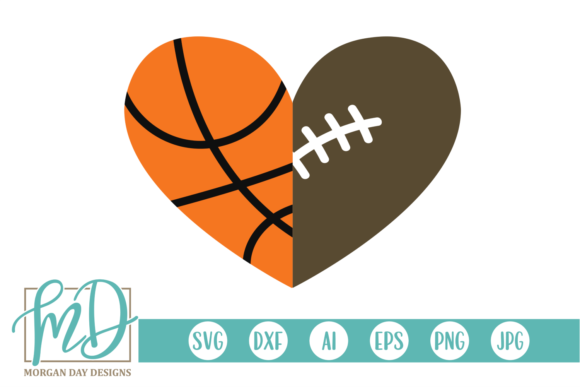 Download Free Basketball Football Graphic By Morgan Day Designs Creative Fabrica for Cricut Explore, Silhouette and other cutting machines.