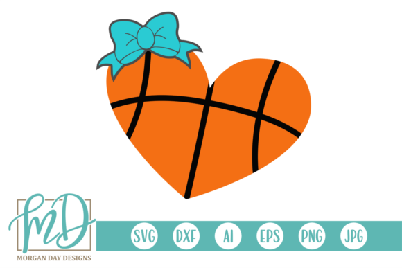 Print on Demand: Basketball Heart  Graphic Crafts By Morgan Day Designs