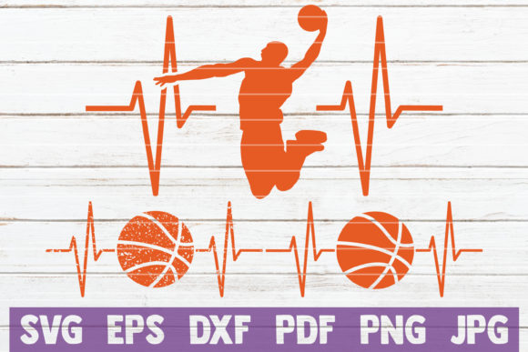 Download Free Basketball Heartbeat Cut Files Graphic By Mintymarshmallows for Cricut Explore, Silhouette and other cutting machines.
