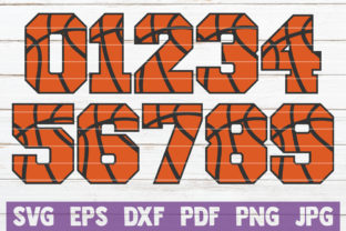 Download Free Basketball Numbers Cut Files Graphic By Mintymarshmallows for Cricut Explore, Silhouette and other cutting machines.