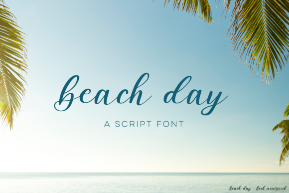 Print on Demand: Beach Day Script Script & Handwritten Font By BeckMcCormick