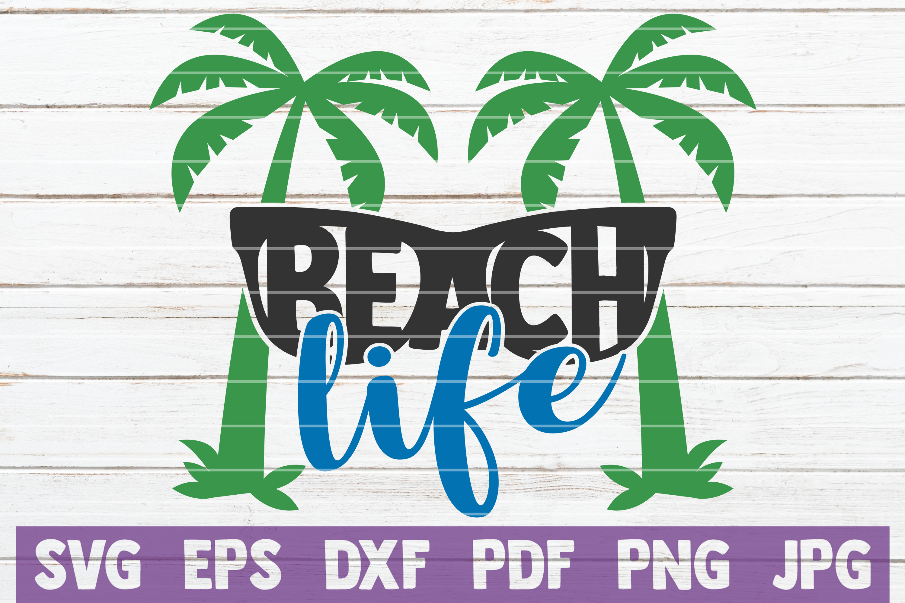 Download Free Beach Life Cut File Graphic By Mintymarshmallows Creative Fabrica for Cricut Explore, Silhouette and other cutting machines.