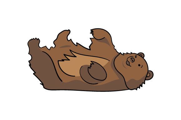 Download Free Bear Laying On Its Back Svg Cut File By Creative Fabrica Crafts for Cricut Explore, Silhouette and other cutting machines.