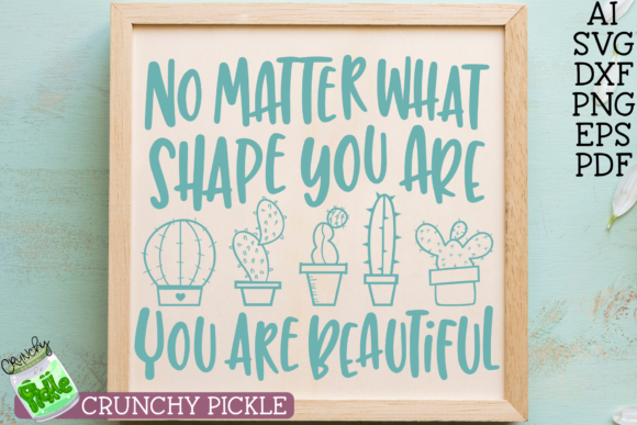 Beautiful Shape Cactus SVG File Graphic Crafts By Crunchy Pickle