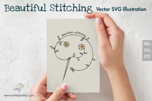 Print on Demand: Beautiful Stitching Vector Illustration Graphic Illustrations By artsbynaty