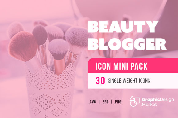Beauty Blogger (30)-Icon MiniPak by GDM Graphic Icons By graphicdesignmarket