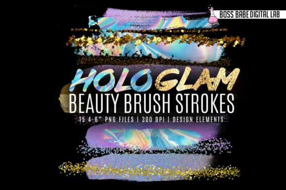 Print on Demand: Beauty Brush Strokes Graphic Objects By bossbabedigitallab