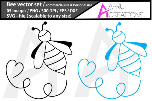 Download Free Bee Svg Cut File Bee Silhouette Graphic By Aparnastjp for Cricut Explore, Silhouette and other cutting machines.