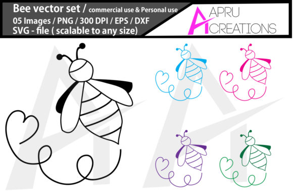 Print on Demand: Bee Graphic Icons By aparnastjp