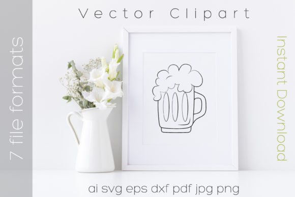 Download Free Beer Mug With Foam Svg Drink Glass Graphic By Ibeartoo for Cricut Explore, Silhouette and other cutting machines.