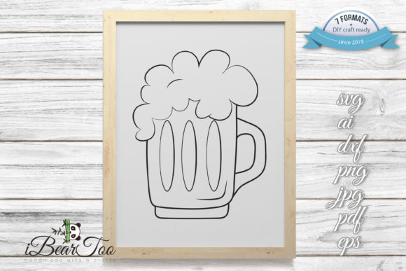 Download Free Beer Mug With Foam Svg Drink Glass Graphic By Ibeartoo Creative Fabrica SVG Cut Files