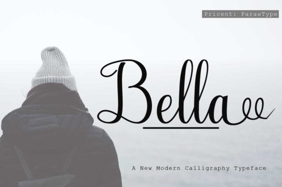 Print on Demand: Bella Script & Handwritten Font By parawtype