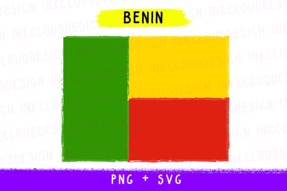 Print on Demand: Benin Africa, World Country Flags, Cut Graphic Icons By Inkclouddesign - Image 1