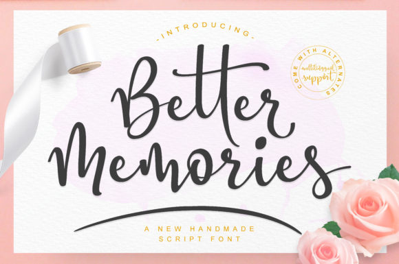 Print on Demand: Better Memories Script & Handwritten Font By Damarletter