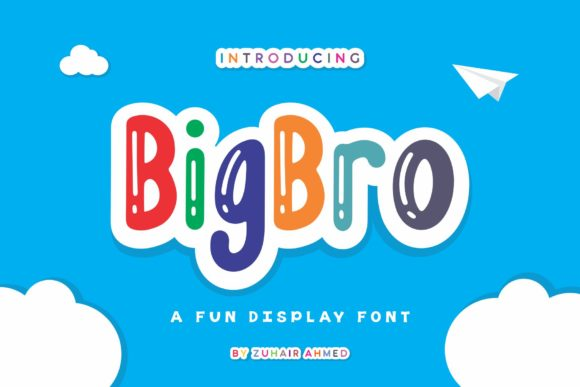 Print on Demand: BigBro Display Schriftarten von ZHR Creative