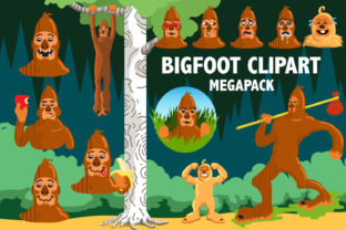 Bigfoot Clipart Megapack Graphic By Mine Eyes Design
