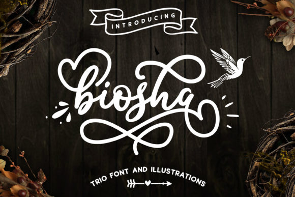 Print on Demand: Biosha Script & Handwritten Font By BlackCatsMedia