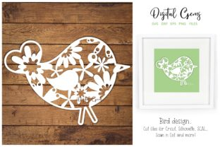 Bird Paper Cut Design Graphic By Digital Gems Creative Fabrica