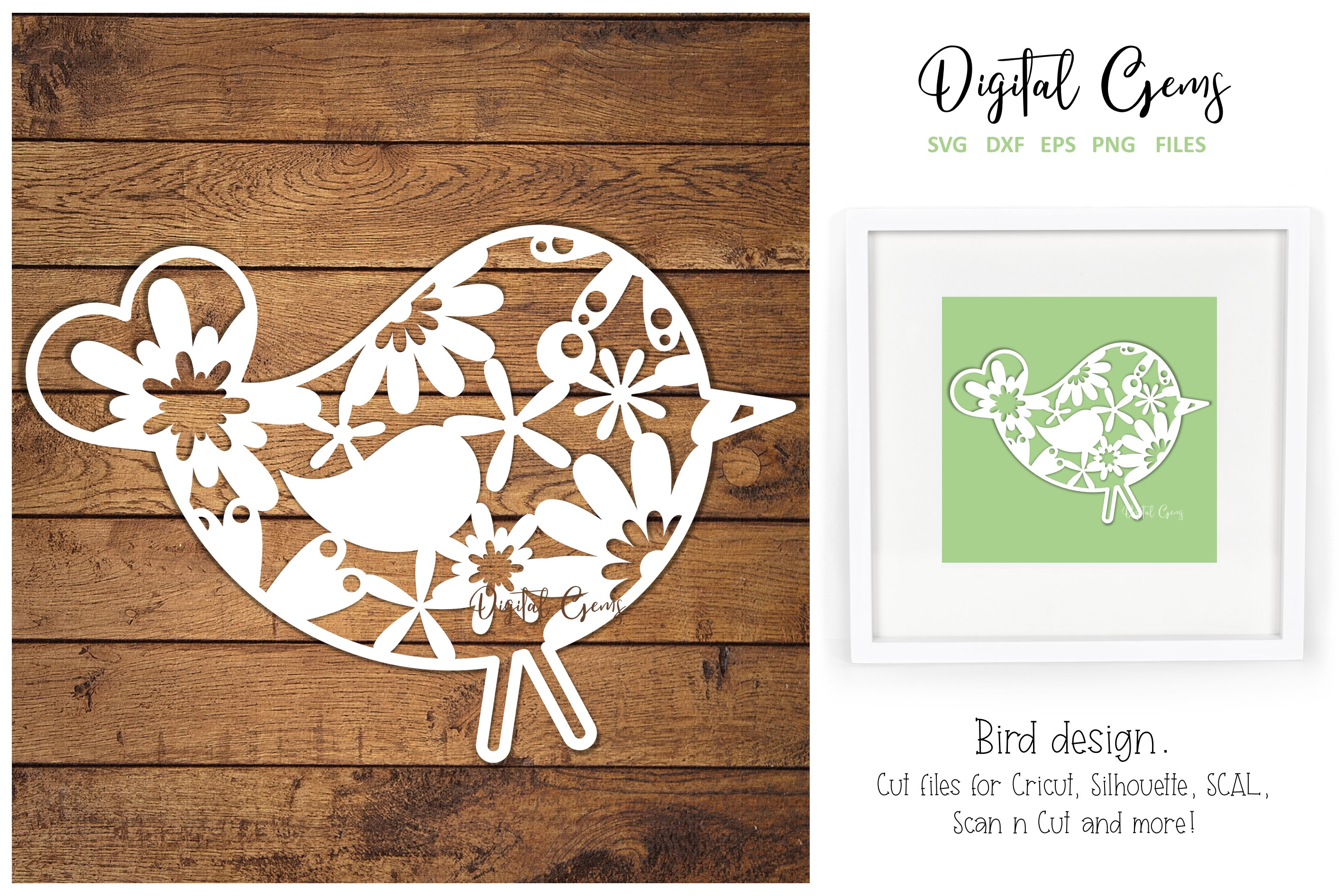 Download Free Bird Paper Cut Design Graphic By Digital Gems Creative Fabrica for Cricut Explore, Silhouette and other cutting machines.
