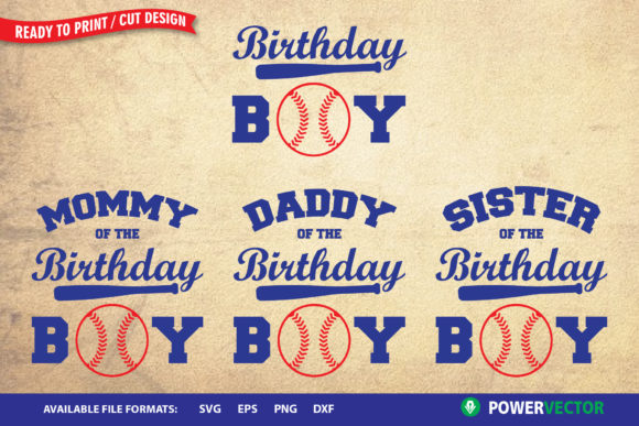 Download Free Birthday Boy Family Shirts Svg Graphic By Powervector Creative for Cricut Explore, Silhouette and other cutting machines.