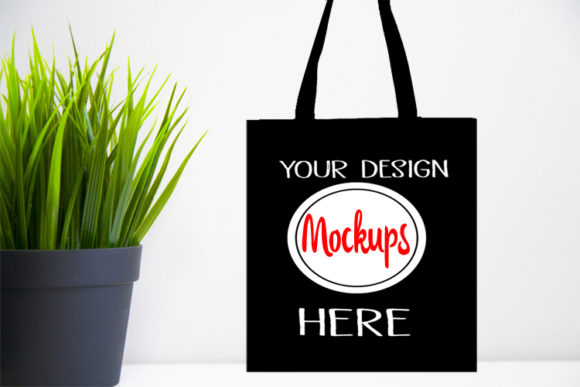 Black Bag Mockups, Black Bag Mockup, Graphic Product Mockups By Scmdesign