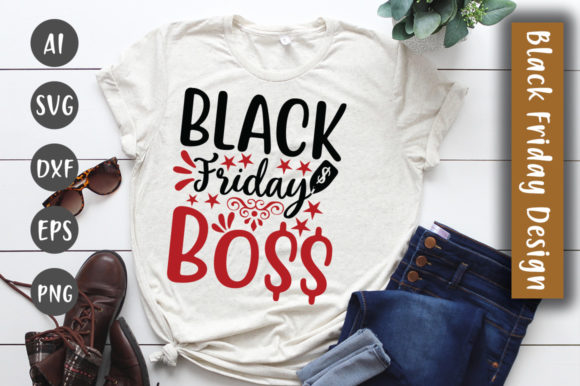 Print on Demand: Black Friday  SVG Design Graphic Crafts By CreativeArt