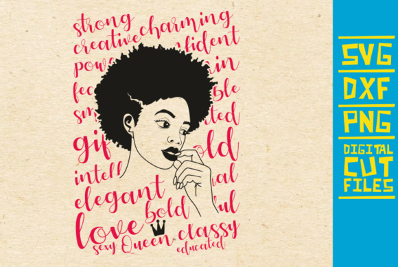 Download Free Black Girl Afro Woman Graphic By Svgyeahyouknowme Creative for Cricut Explore, Silhouette and other cutting machines.