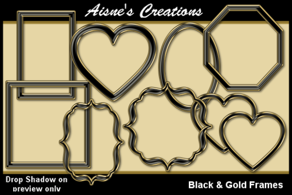 Print on Demand: Black & Gold Frames Graphic Illustrations By Aisne