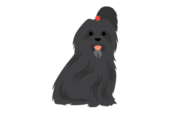 Black Havanese Dog Dogs Craft Cut File By Creative Fabrica Crafts - Image 1