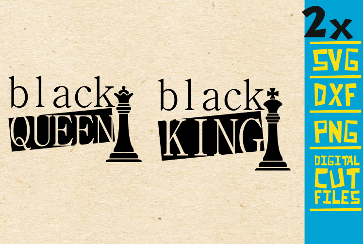 Download Free Black King And Queen Svg Graphic By Svgyeahyouknowme Creative for Cricut Explore, Silhouette and other cutting machines.