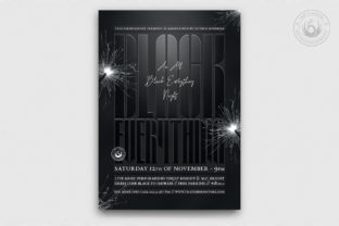 Black Party Flyer Template V5 Graphic By ThatsDesignStore