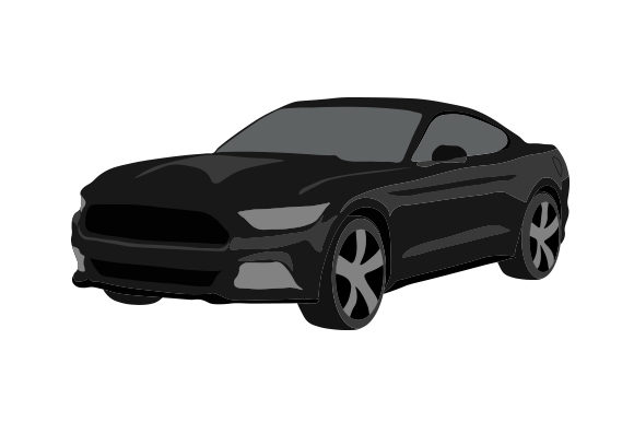 Black Sports Car Garage Craft Cut File By Creative Fabrica Crafts