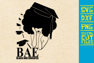 Download Free Black And Educated Svg Afro Girl Svg Graphic By for Cricut Explore, Silhouette and other cutting machines.