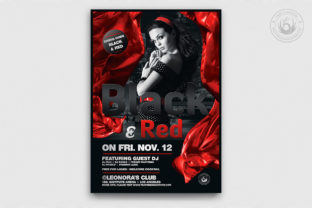 Black and Red Flyer Template V2 Graphic By ThatsDesignStore