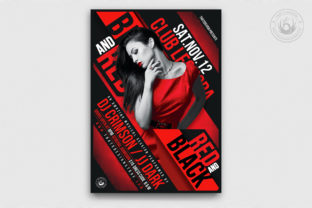 Black and Red Party Flyer Template Graphic By ThatsDesignStore