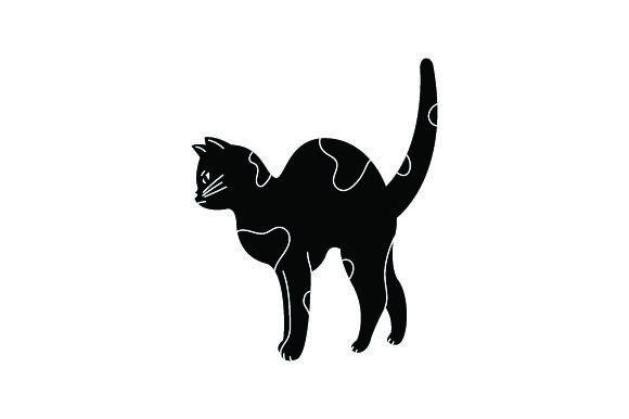 Black Angry Cat Cats Craft Cut File By Creative Fabrica Crafts