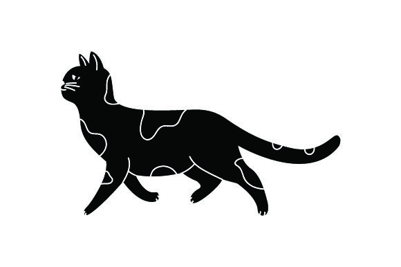 Black Cat Walking Cats Craft Cut File By Creative Fabrica Crafts