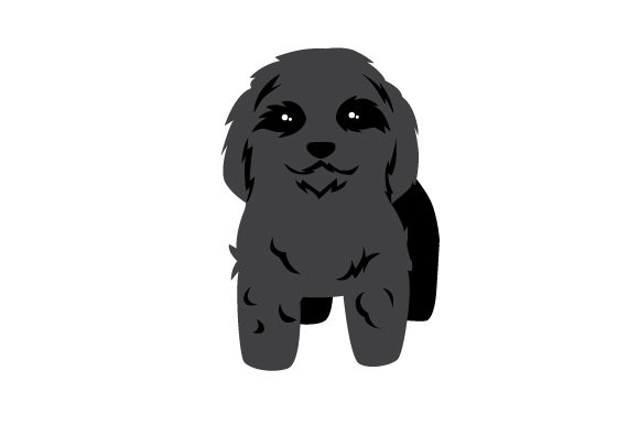 Black Puppy Cut Puddle Craft Design By Creative Fabrica Crafts