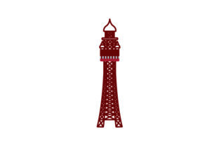 Blackpool Tower UK Designs Craft Cut File By Creative Fabrica Crafts