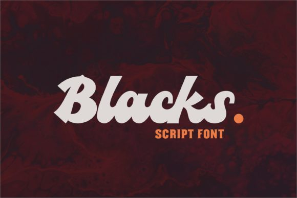 Print on Demand: Blacks Script & Handwritten Font By ovoz.graphics