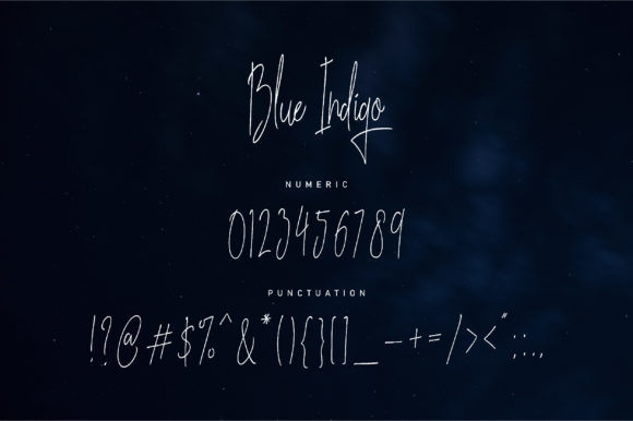 Print on Demand: Blue Indigo Script & Handwritten Font By NendesKombet - Image 4