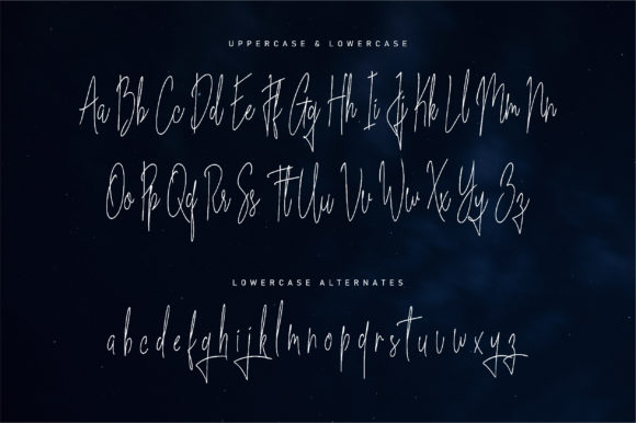 Print on Demand: Blue Indigo Script & Handwritten Font By NendesKombet - Image 5