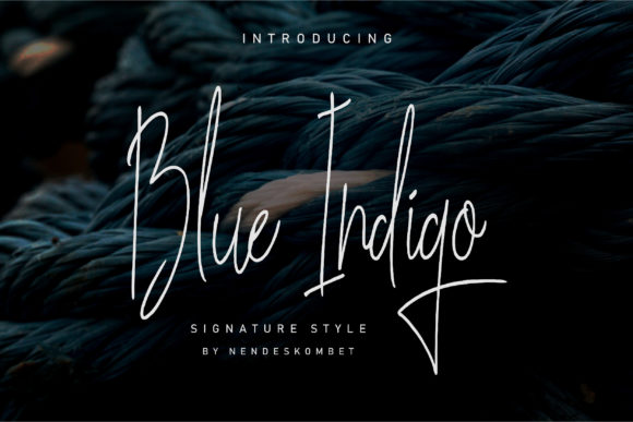 Print on Demand: Blue Indigo Script & Handwritten Font By NendesKombet