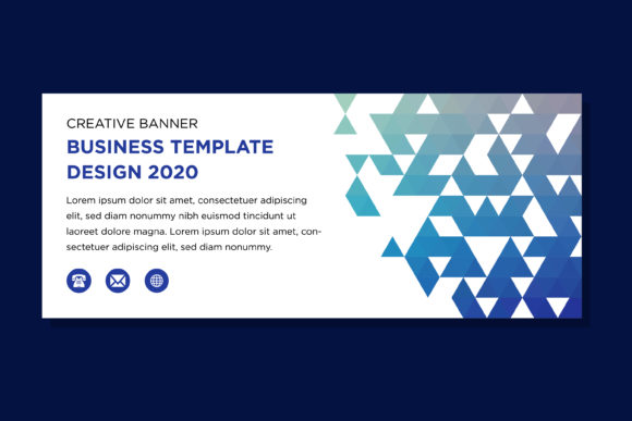 Download Free Blue Horizontal Banner Triangle Pattern Graphic By Noory Shopper for Cricut Explore, Silhouette and other cutting machines.